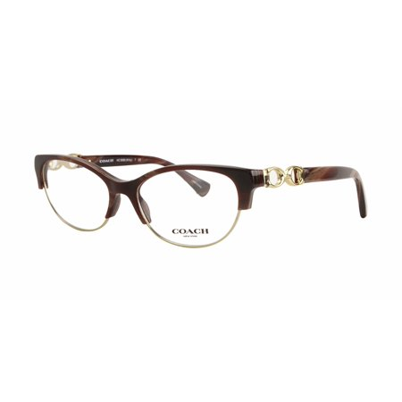 3ff6c4704b4 Coach Kitty Semi-Rimless Eyeglass Frames HC5063 51mm Burgundy Horn Gold -  Walmart.com