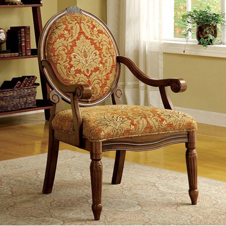 Traditional Hammond Accent Chair, Antique Oak Finish