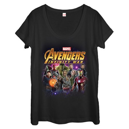Marvel Women's Avengers: Infinity War Character Shot Scoop Neck T-Shirt - Womens Avengers Shirts