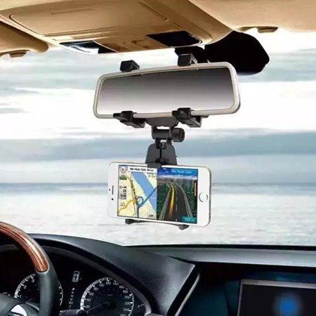 Car Rearview Mirror Mount Holder Stand Cradle For Cell Phone GPS