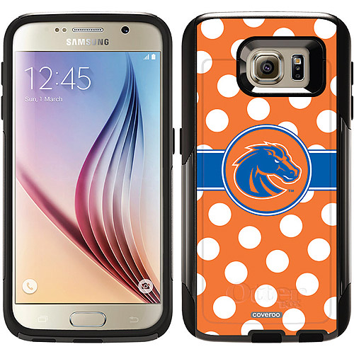 Boise State Polka Dots Design on OtterBox Commuter Series Case for Samsung Galaxy S6