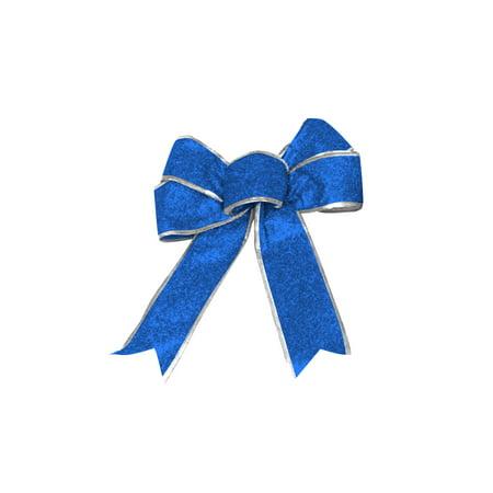 Christmas Bow - Blue