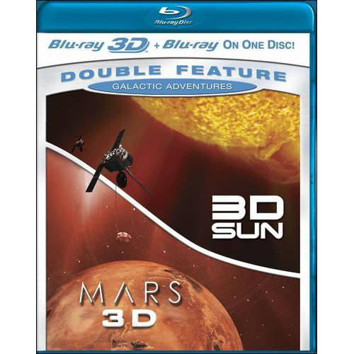 Galactic Adventures Double Feature: 3D Sun / Mars 3D (Blu-ray 3D + Blu-ray) (Widescreen)
