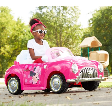Disney Minnie Girls' 6-Volt Battery-Powered Electric Ride-On by (Metal Motorsports E Rivet Electric Mini Bike)