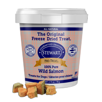 Stewart Pro-Treat Freeze Dried Wild Salmon 2.75 oz. Tub