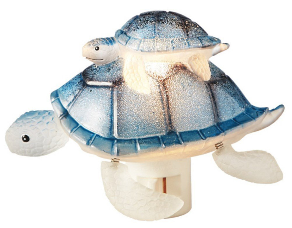 Sea Turtle Mom with Baby Night Light Nite Lite Swivel Plug by Midwest CBK