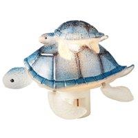 Sea Turtle Mom with Baby Night Light Nite Lite Swivel Plug