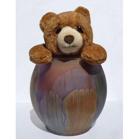 Laminated Poster Teddy Bear Toy Furry Vase Stuffed Animal Cute