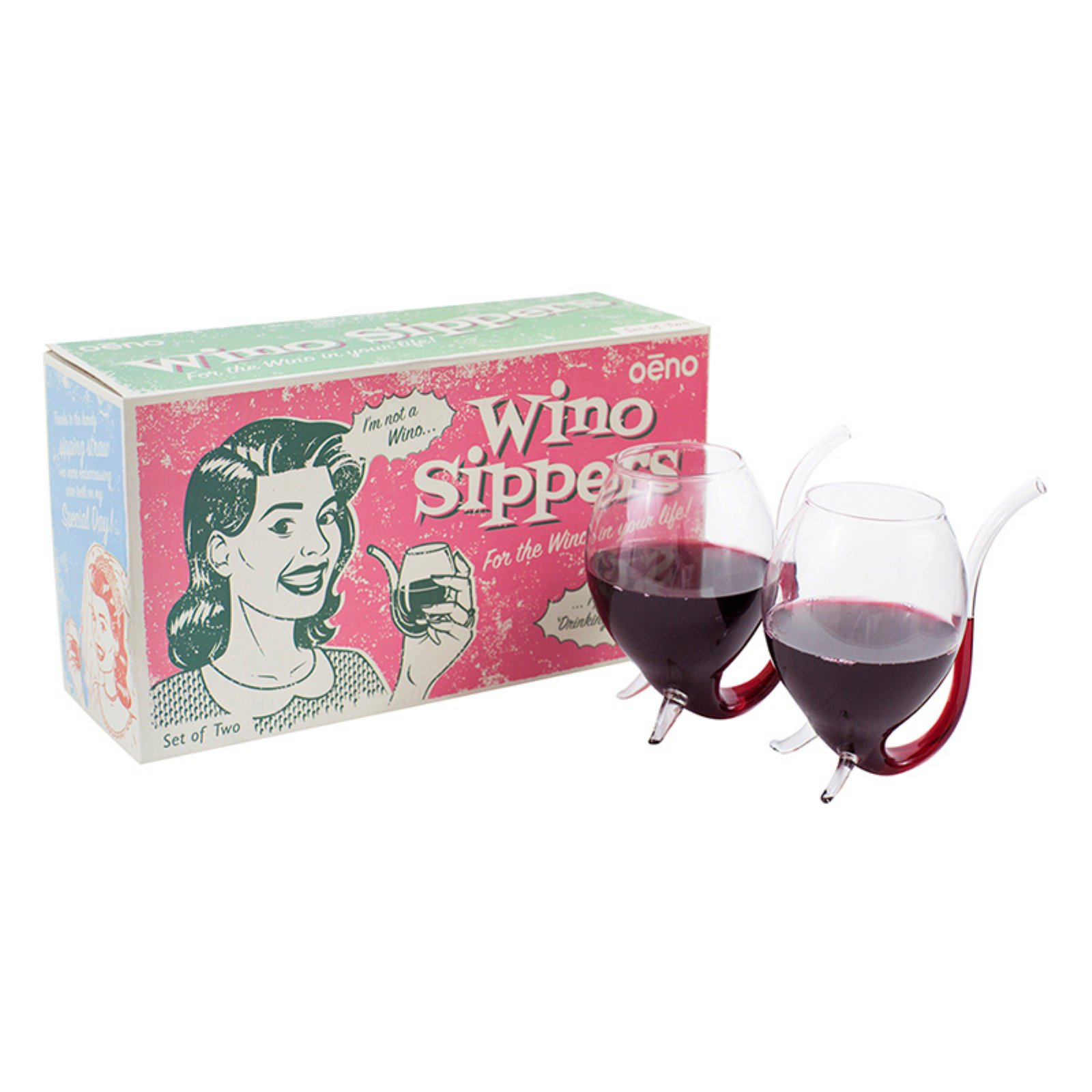Oenophilia Wino Sipper - Set of 2