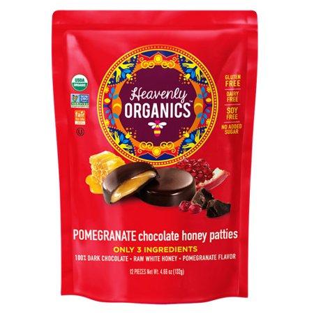"Heavenly Organics Chocolate Honey Pattieâ""¢ Pomegranate -- 12 Patties pack of 1"