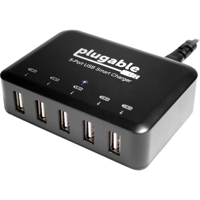 Plugable Power 2015 5-Port USB Smart Charger with 40-Watt Power Adapter