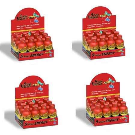5 HOUR ENERGY Tir 48 Berry- Paquet de 2 bouteilles Ounce