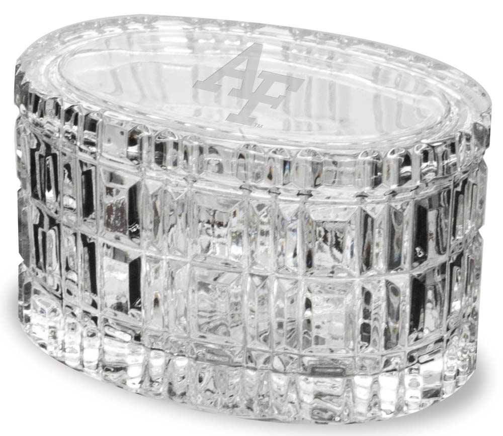 Air Force Crystal 5 Inch Oval Table Box by