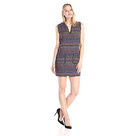 Rachel Zoe Women's Bay Multi Stripe Tweed Shift Dress, Multi, - Zoe Ltd Dress