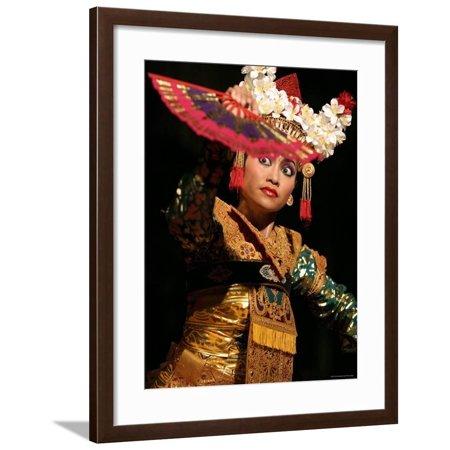 Gamelan Dancer Performing During Bali Arts Festival, Denpasar, Bali, Indonesia Framed Print Wall Art By Paul Kennedy