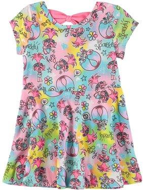 Dreamworks Girls 2T-4T Trolls Print Knit Dress