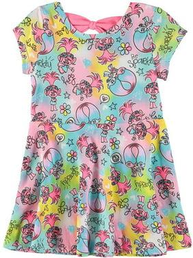 0c7ccd933 Product Image Dreamworks Girls 2T-4T Trolls Print Knit Dress