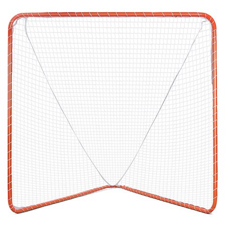 Gymax 6'x6' Portable Lacrosse Practice Net Stylish Hockey Goal Net for Sport Training - Halloween Lacrosse Practice