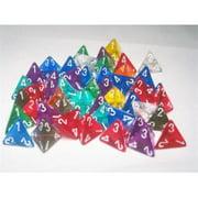 Chessex CHX29104 D4 Translucent Dice, Bag Of 50