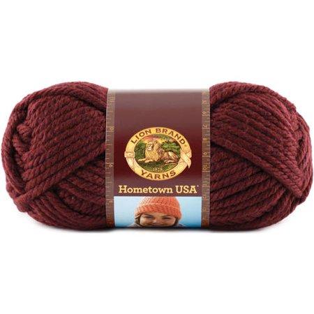 Lion Brand Yarns Hometown USA Napa Valley Pinot Classic Bulky Yarn, 1 Each