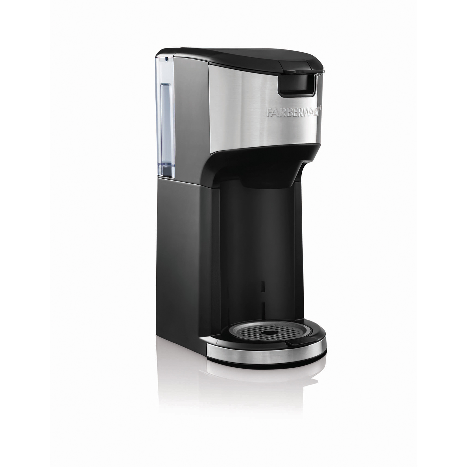 FARBERWARE SINGLE SERVE K Cup and Brew COFFEE MAKER Stainless and
