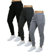 3-Pack Women's Fleece-Lined Loose-Fit Jogger Sweatpants (S-2XL)