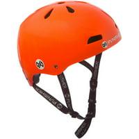 Punisher Skateboards Premium Youth 13-vent Metallic Flake Neon Orange Dual Safety Certified BMX Bike and Skateboard Helmet, Size Medium