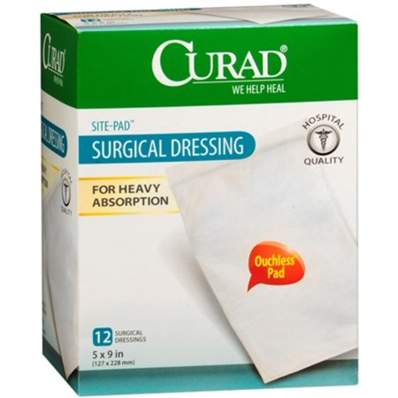 Curad Sitepad Surgical Dressings 5 Inches X 9 Inches 12 Each (Pack of 2)