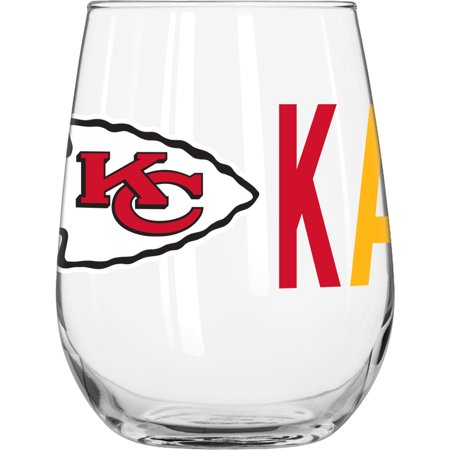 NFL Kansas City Chiefs 16 oz. Overtime Curved Beverage Glass