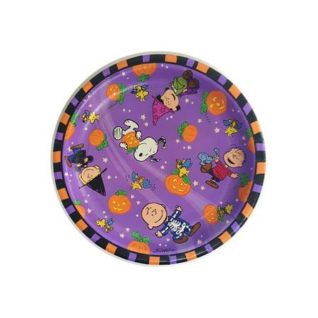 Peanuts Gang Halloween Paper Dinner Plates 8-3/4