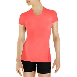 Lg Coral Women's Short Sleeve Performance Shirt