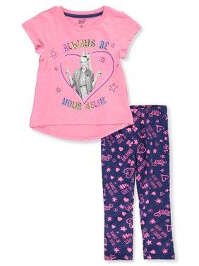 Jojo Siwa Girls' 2-Piece Leggings Set Outfit