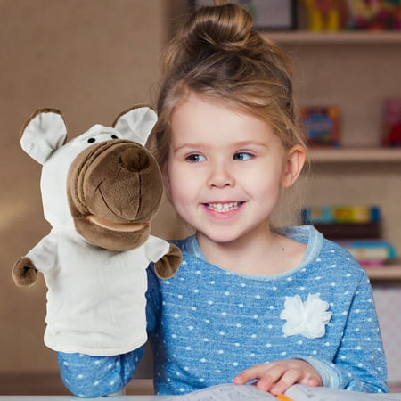 Dog Hand Puppet - Plush Stuffed Animal Children's Toy by Hey! Play!