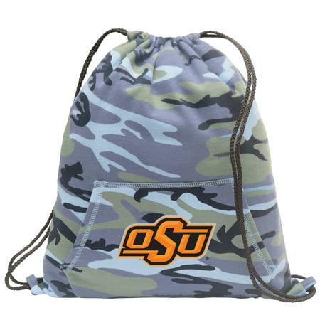 OSU Cowboys Drawstring Bag Blue Camo Official Oklahoma State Cinch Backpack for Boys Girls Men Women