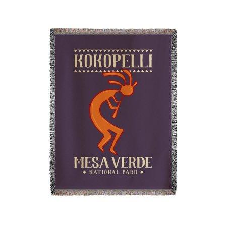 Kokopelli Blanket (Mesa Verde National Park, Colorado - Kokopelli - Lantern Press Artwork (60x80 Woven Chenille Yarn Blanket) )