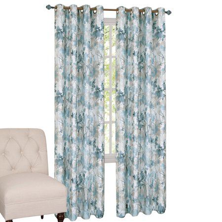Tranquil Trees Grommet Top Insulated Room Darkening Thermal Black Out Window Curtain Panel, 50