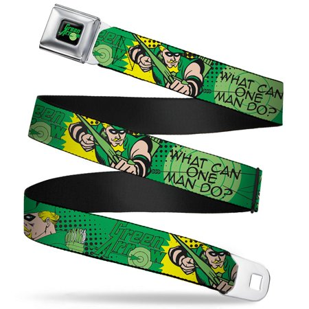 Green Arrow Logo Full Color Black Green Arrow Poses What Can One Man Do? Seatbelt Belt Standard ()