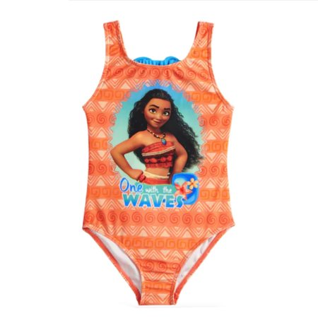 4075add3151d6 Dreamwave - Disney Moana Big Girls' One With The Waves One Piece Swimsuit -  Orange - Walmart.com