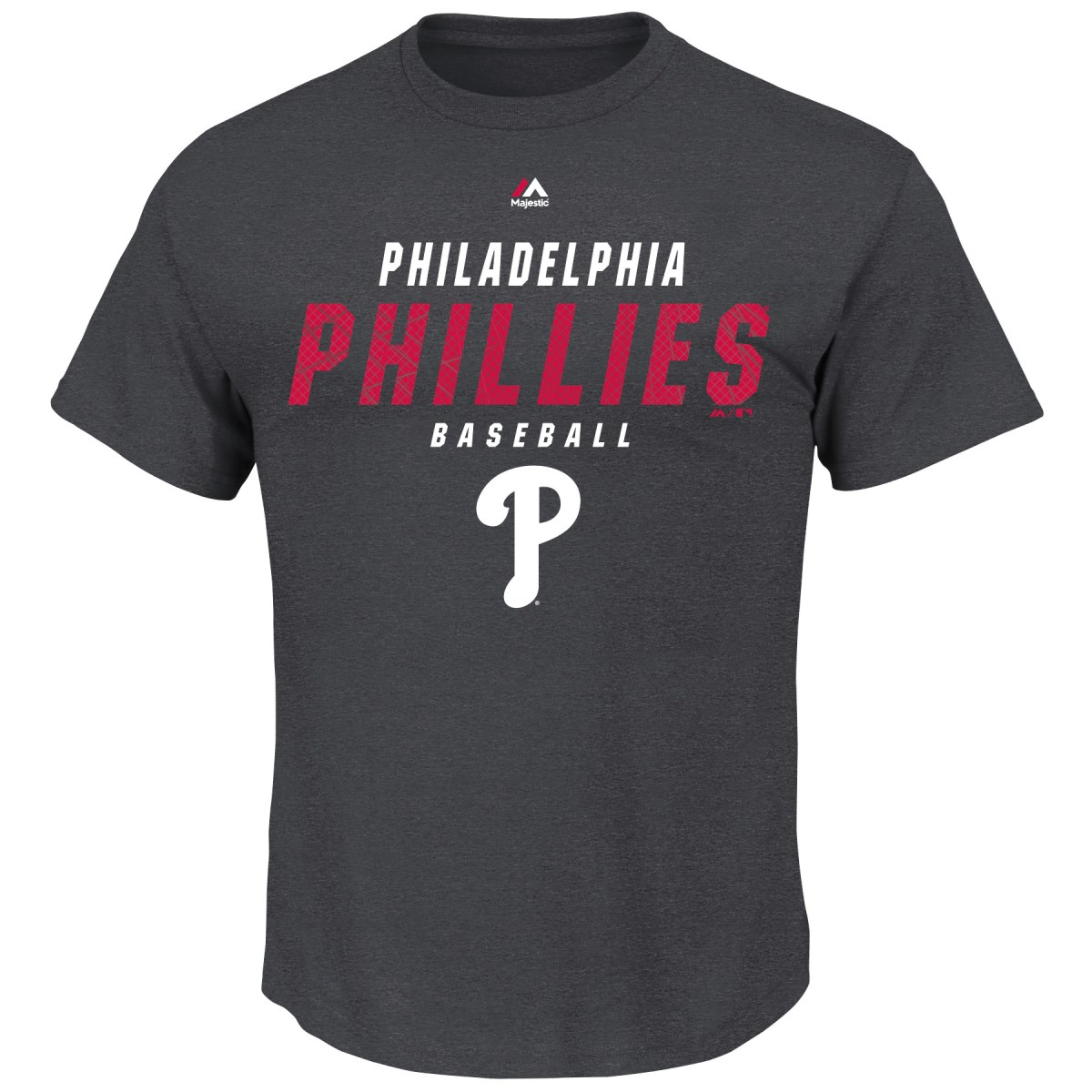 "Philadelphia Phillies Majestic MLB ""All the Way Game"" Men's Charcoal S/S T-Shirt"