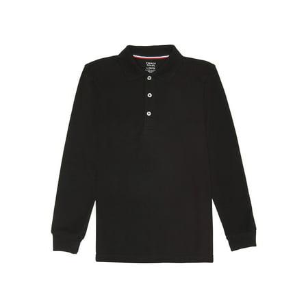 French Toast School Uniform Long Sleeve Pique Polo Shirt (Little Boys & Big Boys)