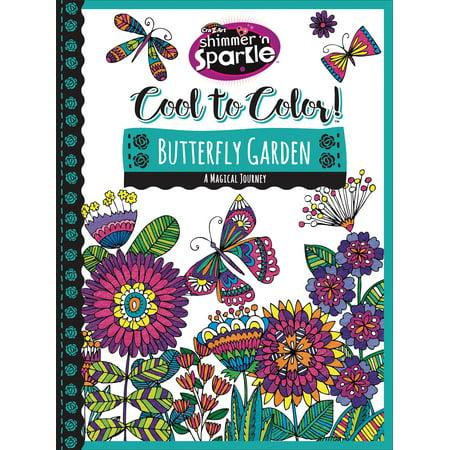 cra z art shimmer n sparkle cool to color butterfly garden coloring book - Butterfly Garden Book