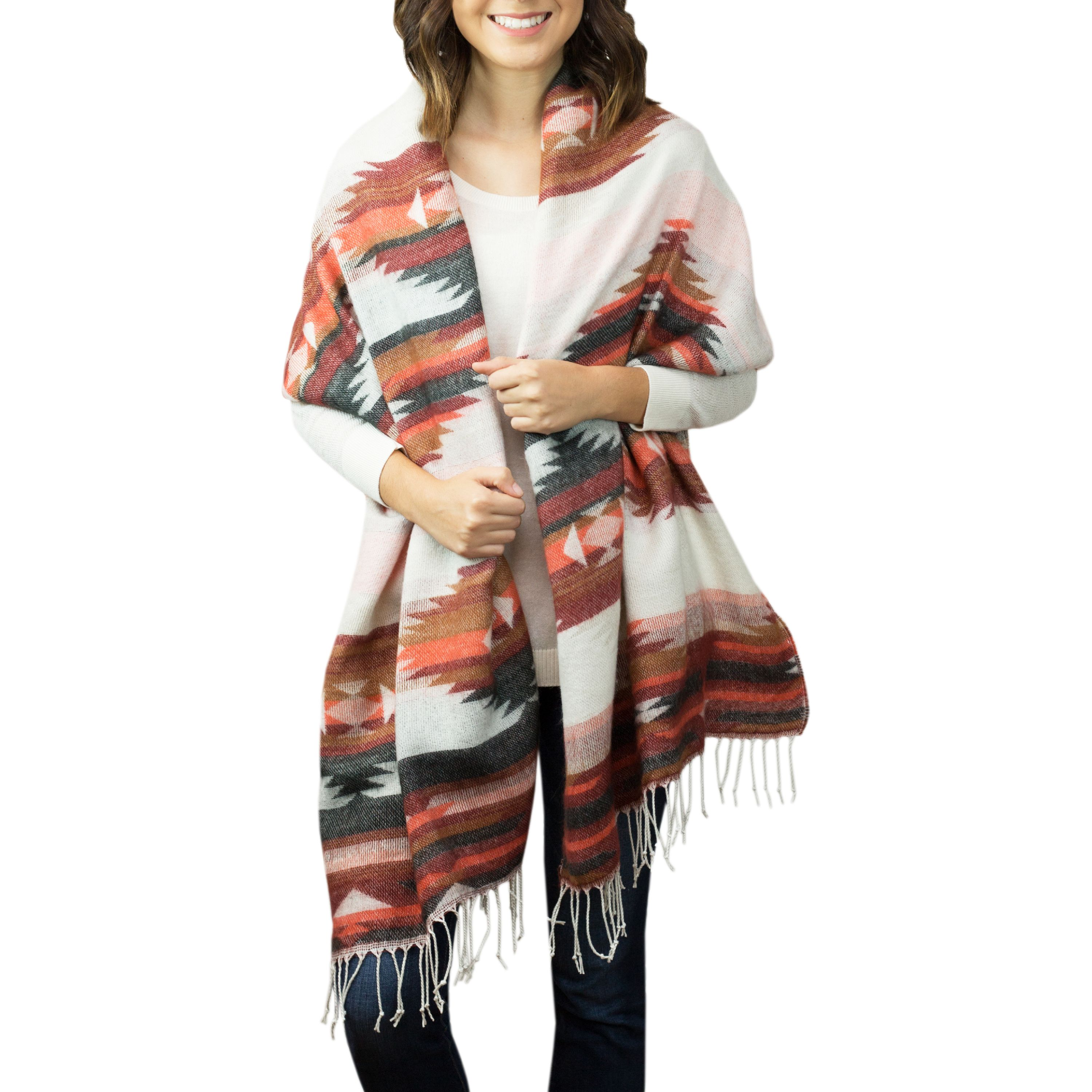 Faded Glory Women's Printed Blanket Scarf