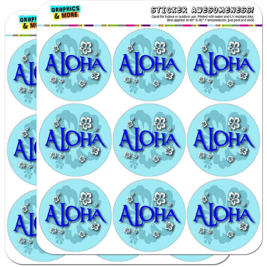 "Aloha Hawaiian Greeting Hibiscus Flowers 18 2"" Planner Calendar Scrapbooking Crafting Stickers"