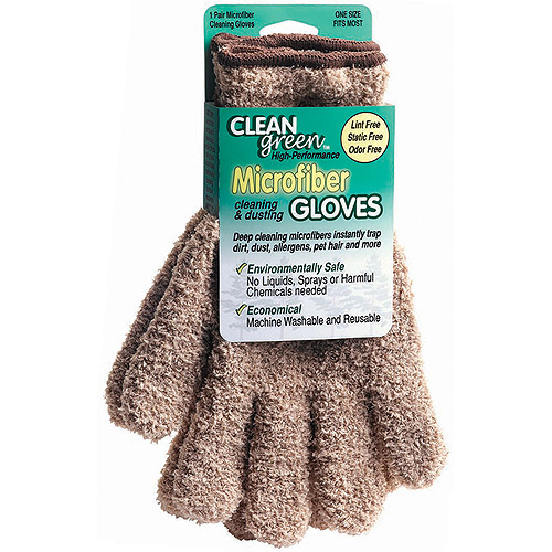Master Manufacturing Clean Green Microfiber Gloves, Beige
