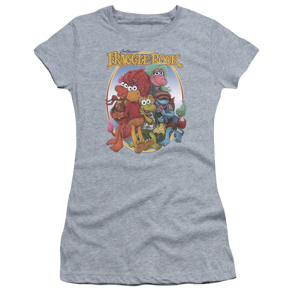 Fraggle Rock Group Hug Juniors Short Sleeve Shirt