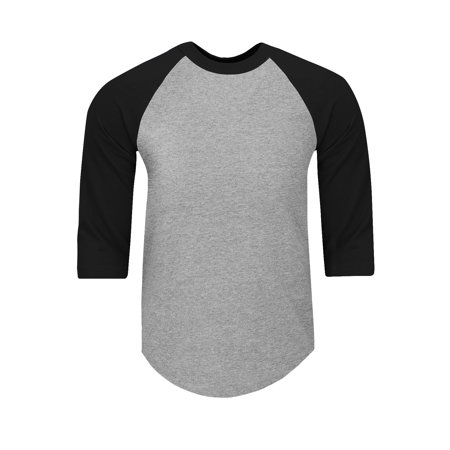 Shaka Wear Men's Baseball T Shirts Raglan 3/4 Sleeves Tee Cotton Jersey S-5Xl