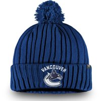 Vancouver Canucks Fanatics Branded Core Cuffed Knit Hat with Pom - Blue - OSFA