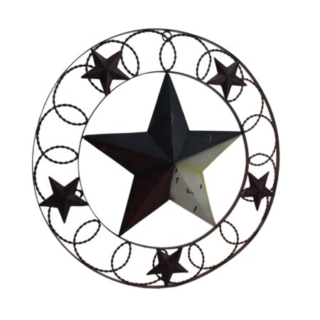 - Rustic Red White & Blue Indoor/Outdoor Framed Barn Star Wall Hanging