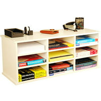 9-Compartment Organizer, White