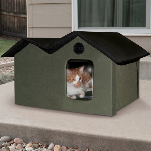 K&H Manufacturing Unheated Outdoor Extra Wide Cat House KH3971